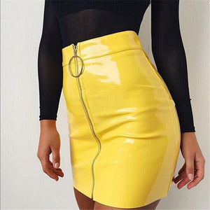 2018 New Women Autumn Winter Tight Suede Skirt Fashion High Waist Zippersliilgal-liilgal