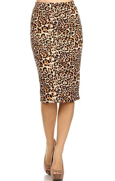 2018 Hot Ladies New Fashion Women's Leopard Pencil Skirt High Waist Floralliilgal-liilgal