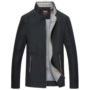 Spring Summer Thin Varsity Jacket Men Fashion Stand Collar Business Jackets Coatliilgal-liilgal