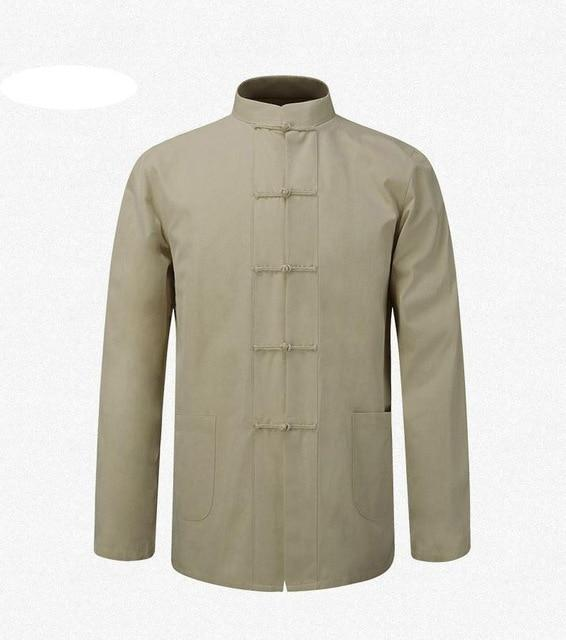 New Male Cotton Shirt Traditional Chinese Men Coat Clothing Kung Fu Tailiilgal-liilgal
