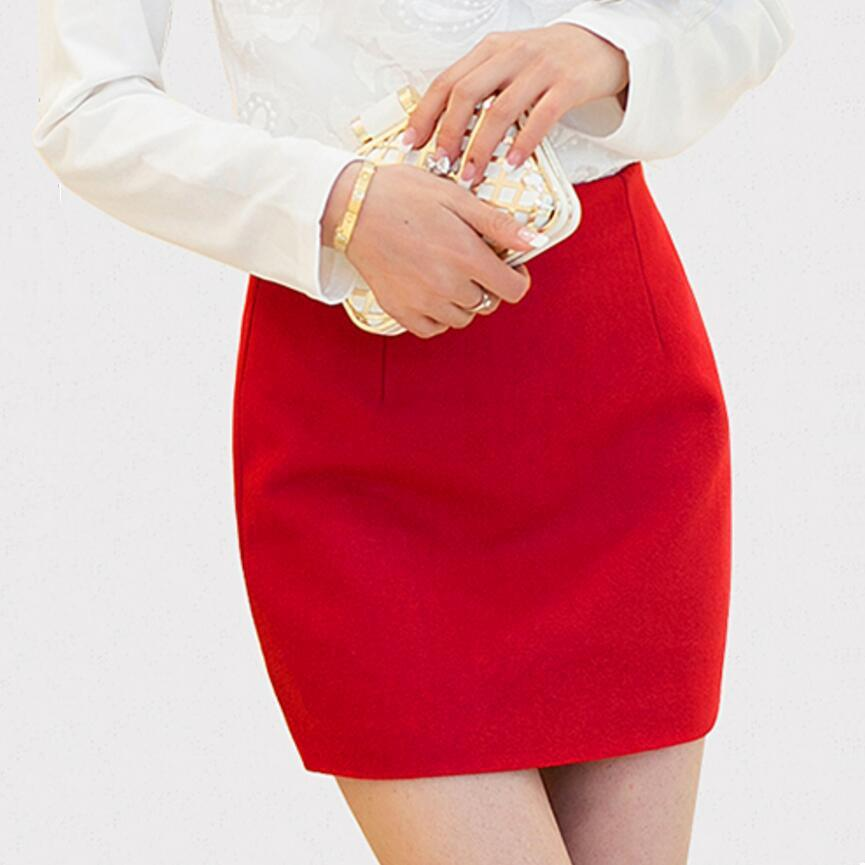 Winter Skirts Womens Fall Autumn Brand Fashion All-Match Falda Basic Classic Candyliilgal-liilgal