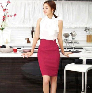 Pencil Skirt Women Plus Size High Waist Slim Hips Candy Colorliilgal-liilgal