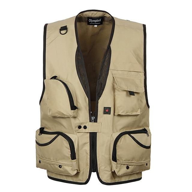 Summer Baggy Sleeveless Jacket For Men With Many Pockets Male Casual Breathableliilgal-liilgal