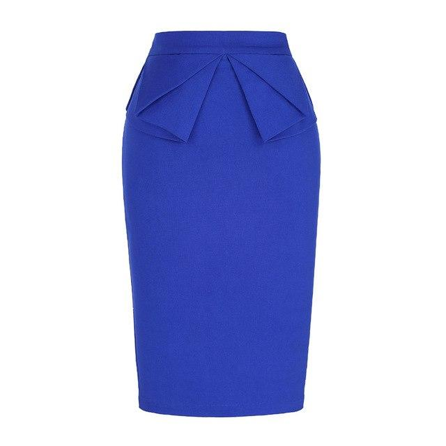 Bow-knot Women 2018 New Arrival Cotton Pencil Midi Skirt Vintage Summer Splitliilgal-liilgal