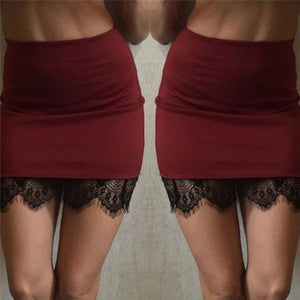 Thin waist Lace Bodycon Skirts Womens Spring Summer Tight Sexy Mini Skirtliilgal-liilgal