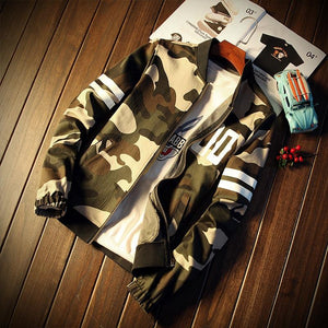 New Arrival Fashion Camouflage Jacket Men Spring Zipper Casual Youth Windbreakerliilgal-liilgal