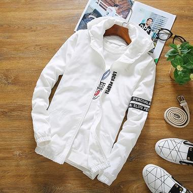 2018 Spring Autumn New Fashion Slim Fit Young Men Hooded Jacket Thinliilgal-liilgal