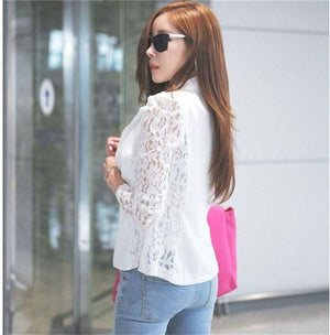 2017 New Woemn Autuam Casual Jacket Outwear Sexy Women Long Sleeve Laceliilgal-liilgal
