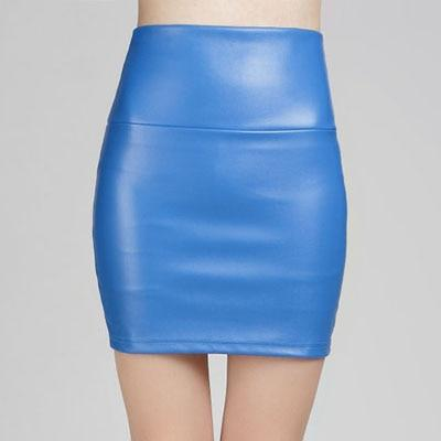 2018 spring autumn Fashion Women Skirts PU faux leather skirts tight stretchliilgal-liilgal