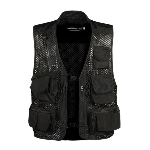 2018 Causal Mens Waistcoat Sleeveless Summer Baggy Multi Pocket Photographers Male Vestliilgal-liilgal