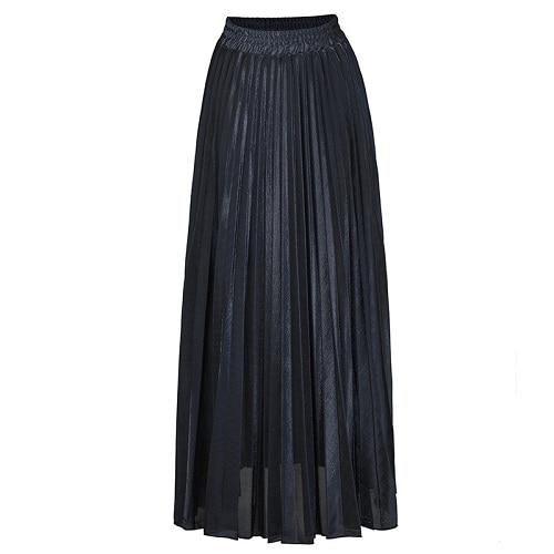 New Winter Autumn High Waist Skirt Women Casual 2018 Summer Big Hemlineliilgal-liilgal
