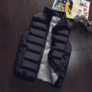 Men Jacket Sleeveless Vest Winter Fashion Casual Men's Brand Clothing Cotton-Padded Menliilgal-liilgal