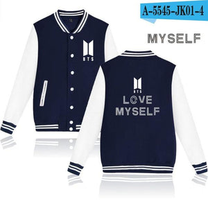 K-pop Winter Jacket Women Bangtan Boys Love Myself Fashion Jacket Mensliilgal-liilgal