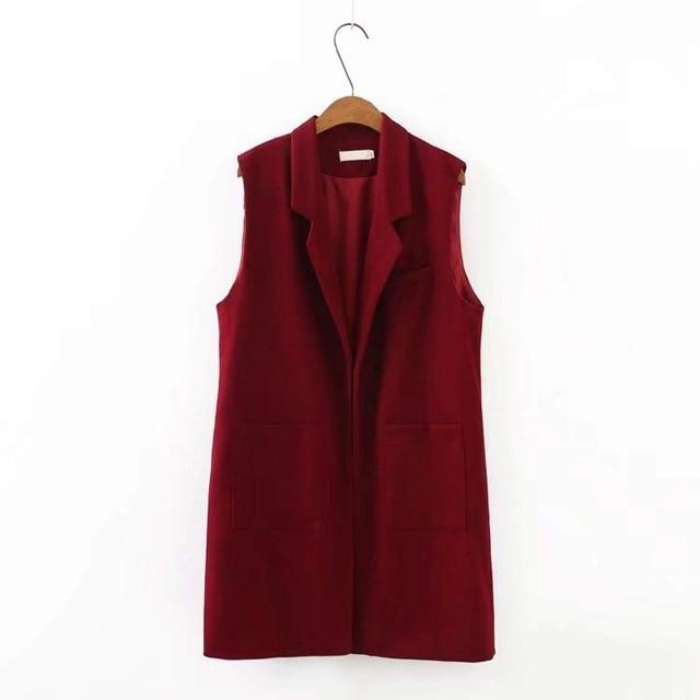 S52 Autumn Casual Vests 5XL Plus Size Women's Clothing Fashion sleeveless Openliilgal-liilgal