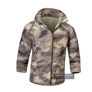 Men Summer lightweight Jacket Skin Tactical Thin Waterproof Quick Dry Raincoat Militaryliilgal-liilgal
