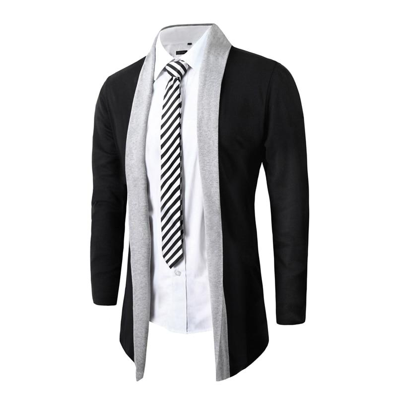 Spring Jacket Men Solid Thick Coat Wool Long Sleeve Slim Lapel Collarliilgal-liilgal