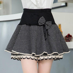 Zuolunouba 2018 Elasticity Summer Skirt Women Sweet Floral Bowknot Mini Tutu Womanliilgal-liilgal