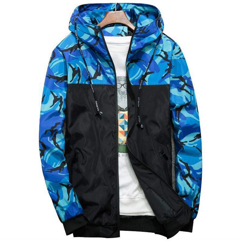Windbreaker Jacket Men Camouflage Hooded Bomber Jackets Mens Brand Slim Fit Windproofliilgal-liilgal