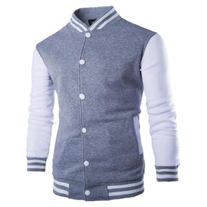 Long Sleeve Casual Brand College Men Baseball Jacket Coats Stand Collar Cottonliilgal-liilgal