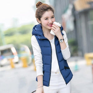 2018 cotton padded autumn women winter vest solid color short stand colorliilgal-liilgal
