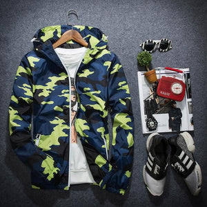 2018 New Camouflage Jacket Men Plus Size Camo Hooded Windbreaker Jackets Militaryliilgal-liilgal