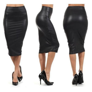 Autumn Winter Women Skirt Midi Skirt OL Sexy Slim stretch High waistliilgal-liilgal