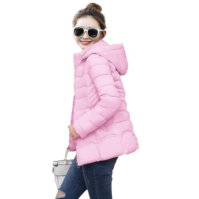 2018 New style Fashion Autumn Winter Jacket Women slim Winter Coat Womenliilgal-liilgal