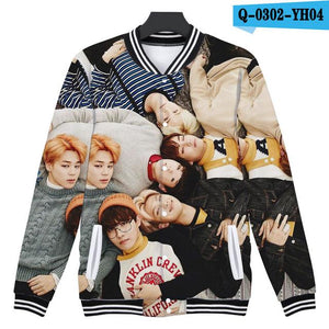 K-pop 3D Printed Jacket Women Bangtan Boys Funny Cartoon Jackets Womenliilgal-liilgal
