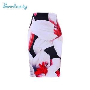 Knee length women pencil skirts fashion ladies midi saias female faldas mujerliilgal-liilgal