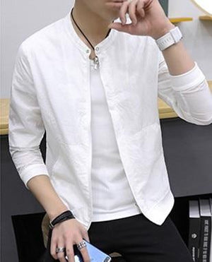 2018 New Summer Autumn Men's Jackets Fashion Casual Korean Slim Fit Thinliilgal-liilgal