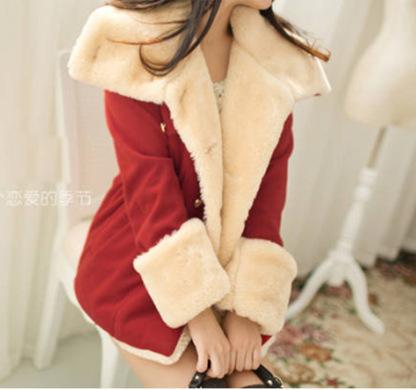 Korean winter coat women 2018 new fashion Slim double-breasted cardigan warm fakeliilgal-liilgal