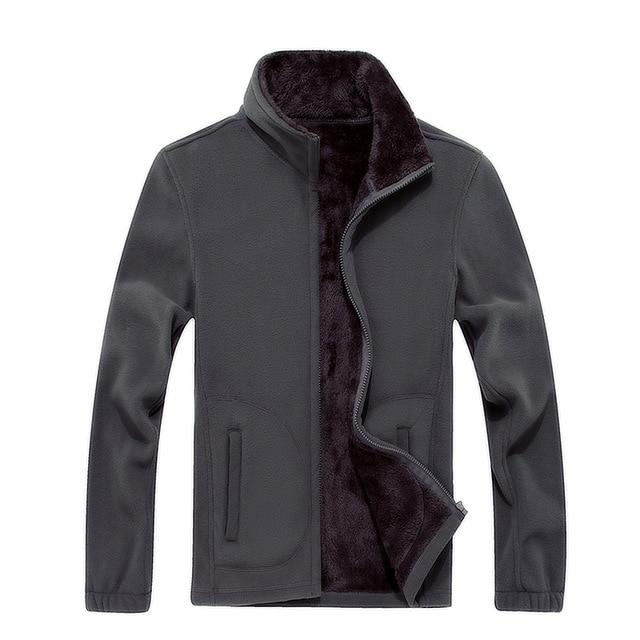 Mens Softshell Fleece Casual Jackets Men Warm Thermal Coats Solid Thickened Brandliilgal-liilgal
