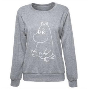 Kawaii Cartoon Printed Sweatshirt 2017 Autumn Winter Loose Women Hoodies Funny Casualliilgal-liilgal
