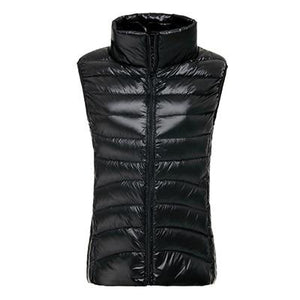 Autumn Winter Ultra Light Women Vest 90% Duck Down Thin Waistcoat Sleevelessliilgal-liilgal
