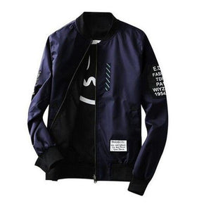 Spring Autumn Bomber Jacket Men Pilot with Patches Green Both Side Wearliilgal-liilgal