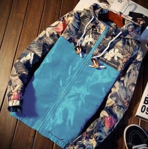 2018 men Cultivate one's morality even cap Printed tide leisure jacketliilgal-liilgal