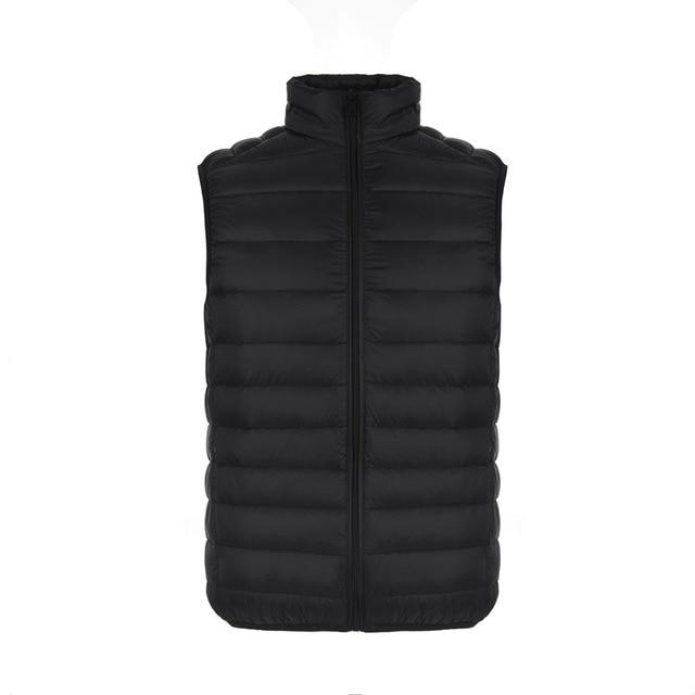 Autumn Men Ultra Light Down Vest 90% Duck Down Waistcoat Sleeveless Featherliilgal-liilgal