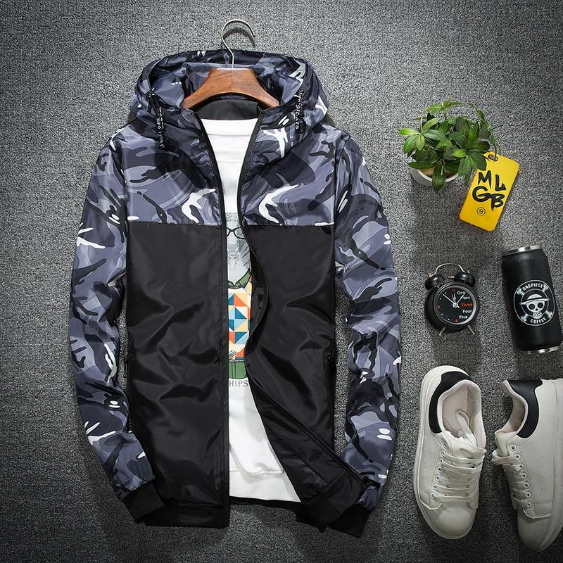 Wholesale Price Windbreaker Zipper Outwear Hooded Brand Clothing Men Bomber Jacket Thinliilgal-liilgal