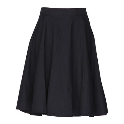Fashion Women Vintage High Waist Big Swing Solid Color Skirts Plusliilgal-liilgal