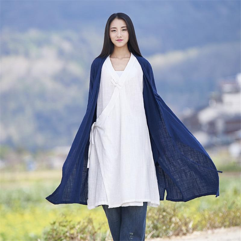 2018 New Women's Coat Autumn Summer Cotton Linen Vintage Soft Fullliilgal-liilgal