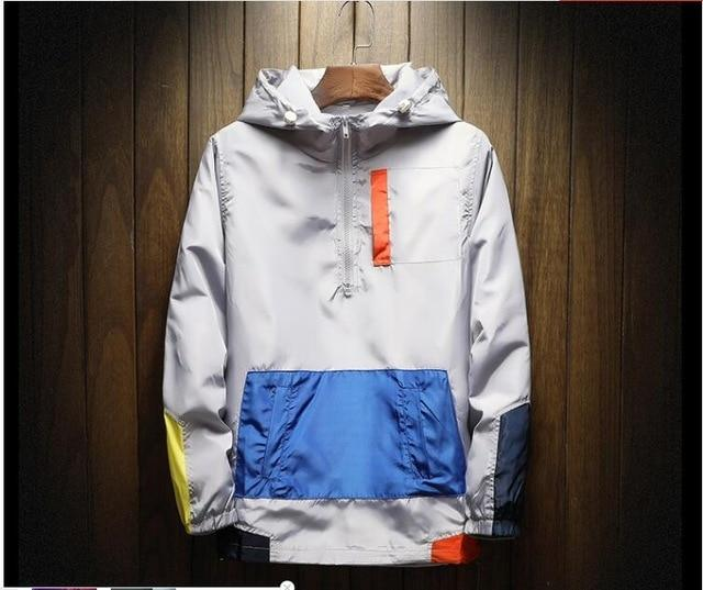 Hot Sale Casual Men's Jackets Waterproof Spring Hooded Coats Men Outerwear Casualliilgal-liilgal