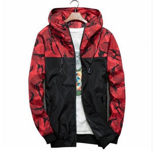 Fashion Brand Military Style Jacket Men Camouflage Patchwork Long Sleeve Jacket Streetwearliilgal-liilgal