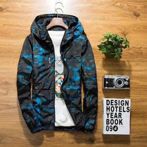 Jacket new Spring Autumn Mens Casual floral Camouflage Hoodie Jacket Men Waterproofliilgal-liilgal