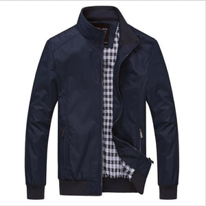New 2018 Spring Autumn Jackets Men Classic Solid Casual Fashion Jacket Plusliilgal-liilgal