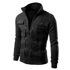Fashion Italy Style Jacket Men Spring Autumn Pocket Solid Coat Jackets Mensliilgal-liilgal
