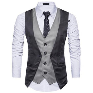 NEW 2018 casual men's sleeveless vest slim fashion vestliilgal-liilgal
