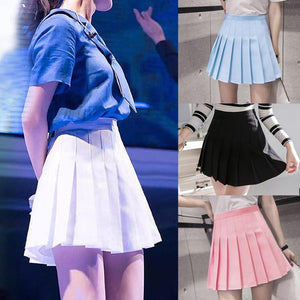 2018 New Arrival Young Pleated High Waist Mini Skirts Summer Sweet Southliilgal-liilgal