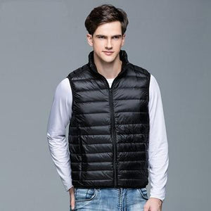 2018 New Winter Men 90% White Duck Down Vest Portable Ultra Lightliilgal-liilgal