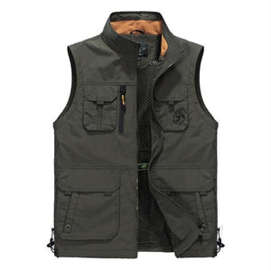 Summer Sleeveless Men Vest Multipockets Photographer Vest Men Fashion Breathable Waistcoat Waterproofliilgal-liilgal