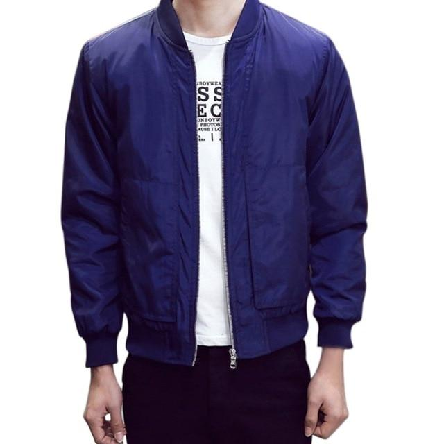 New Autumn Spring Men's Jackets Solid Fashion Coats Male Casual Slim Standliilgal-liilgal